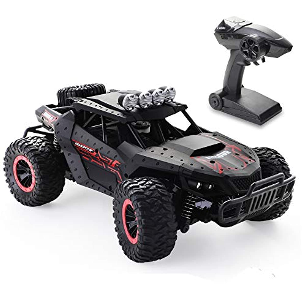 [해외] TECH RC 라디오 컨트롤 카 (어린)아이용 1/16 오프로드 전동RC카 퍼터고 넘어 발군 드리프트 2WD 리모콘 카 배터리2 개부착 35분건 달려라 2.4GHZ무선 조작 시속20KM/H 방진초심자용 블랙