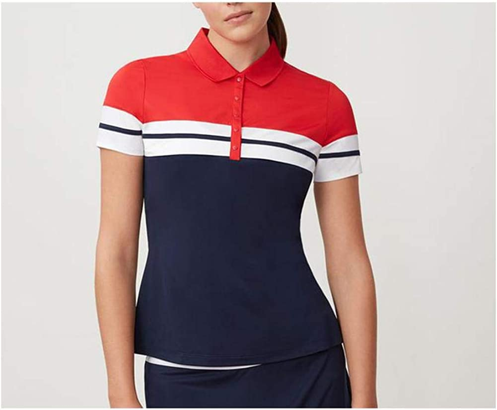 Fila Women's Heritage Tennis Polo Navy/Chinese Red/White