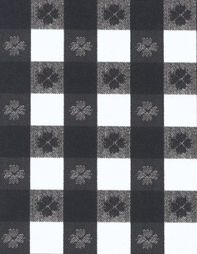 Tavern Check 1'' Squares Series 9802 Black & White Vinyl Tablecloth 54'' X 75' Roll