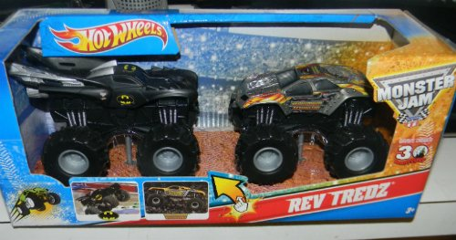 Man Rev Set - MONSTER JAM REV TREDZ BATMAN VS MAXIMUM DESTRUCTION 2 PACK PLAY SET