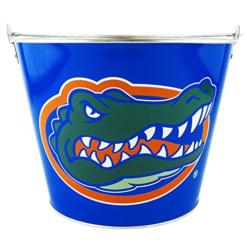 5 Qt Metal Bucket - NCAA Florida Gators Hype Full Wrap Metal Bucket, 5-Quart