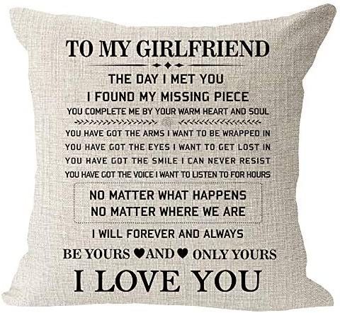 Blessing Girlfriend Valentines Decorative Pillowcase product image