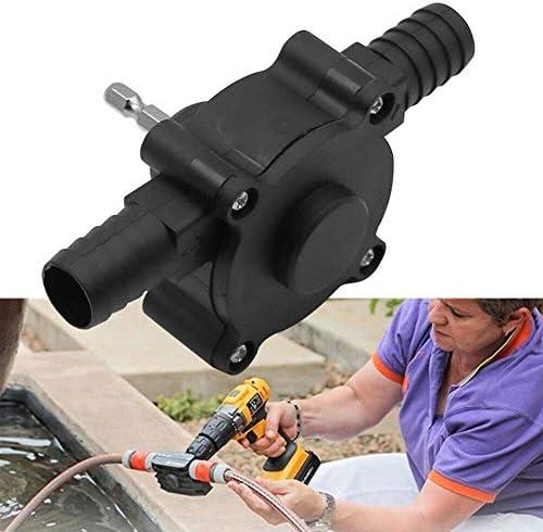 Vixaax Manuelle elektrische Bohrpumpe, selbstansaugende Mini-Flüssigkeitsförderpumpe, Dieselmotoröl- und Wasserpumpe, geeignet für den Hausgarten im Freien