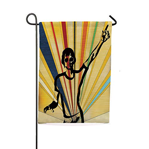iPrintsophierhome Garden Banner Outdoor Flag Flags,Radial Background Entertainment Nightclub Disco,Holiday Decorations Outdoor Garden Decoration Digital Printing Flag ()