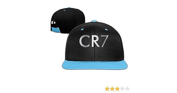 Big Boys Cristiano Ronaldo CR7 Logo Platinum Style Baseball Snapback Cap