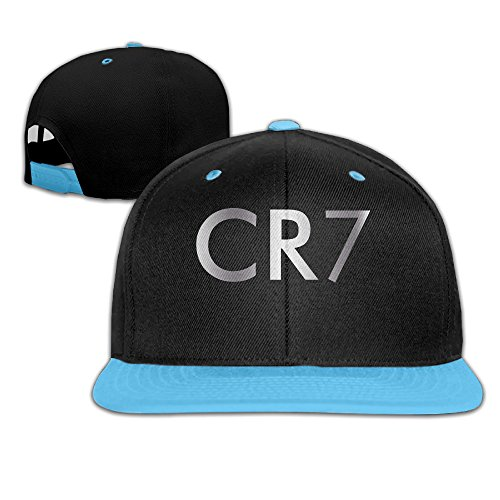 1614dcb84f7 Big Boys Cristiano Ronaldo CR7 Logo Platinum Style Baseball Snapback Hat  RoyalBlue