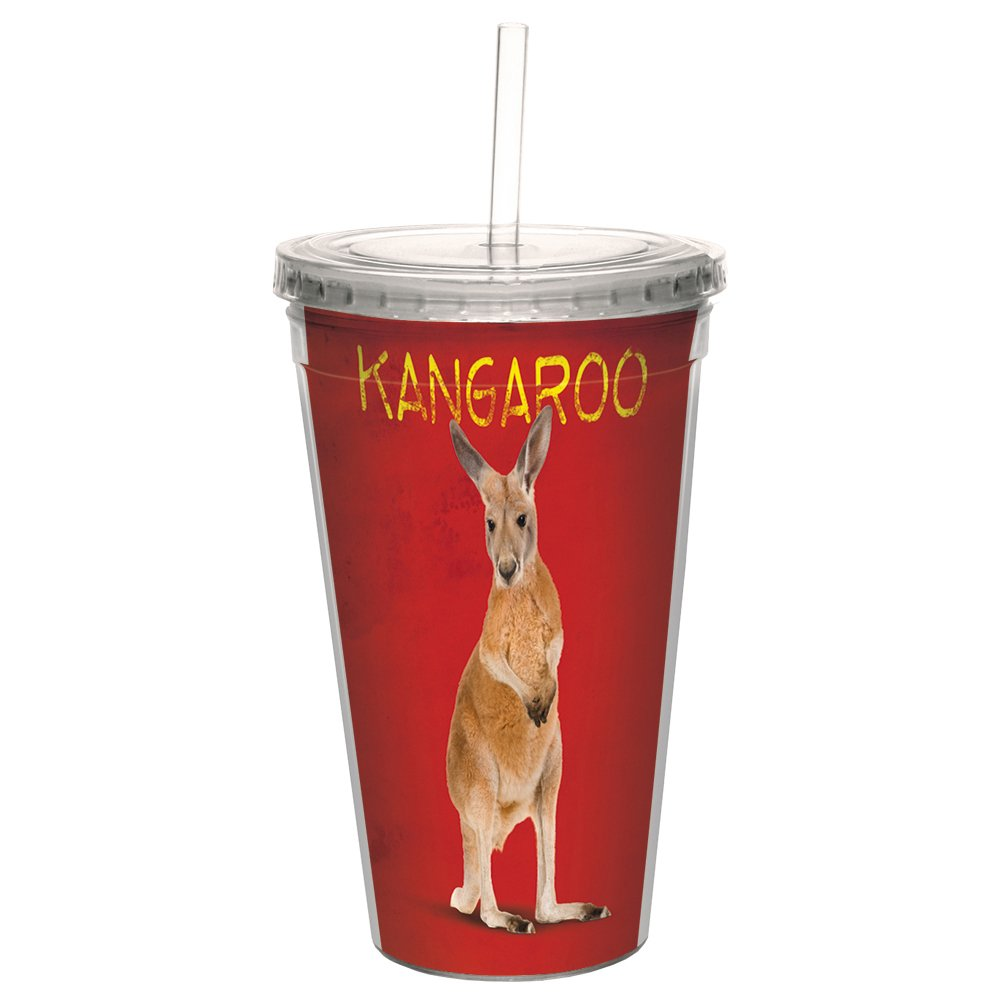 Koala Bears Tree-Free Greetings CC35760 Cool Cups 16 Ounces Double-Walled PBA Free with Straw and Lid Travel Insulated Tumbler