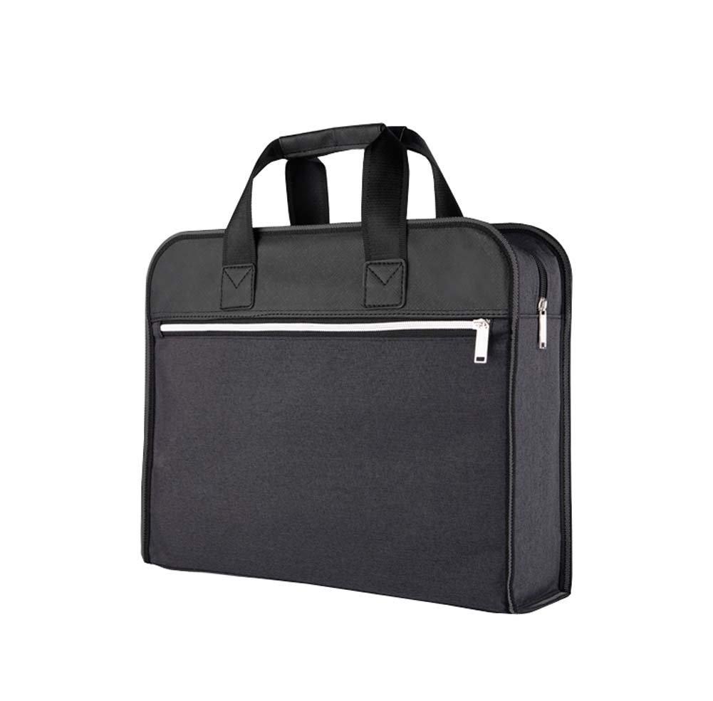 Document Bag Zippered Business Office Briefcase Meeting Handbag, Dark Gray Koala Superstore