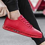 NANXIEHO Autumn and Winter Trend Men Sneakers Red Hip Hop Fashion Leisure Shoes Wear Resistant Shoes