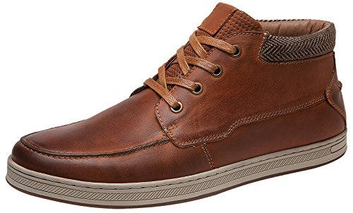 arow VIP Men's Genuine Leather High-Top Fashion Sneakers - Men Casual Sneakers