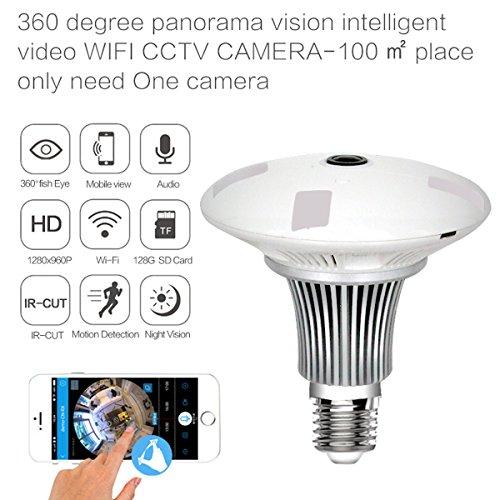 zooglv nuevo diseño iluminación LED Home sistema de monitor de seguridad, VR foco cámara, Wireless Home Seguridad IP...