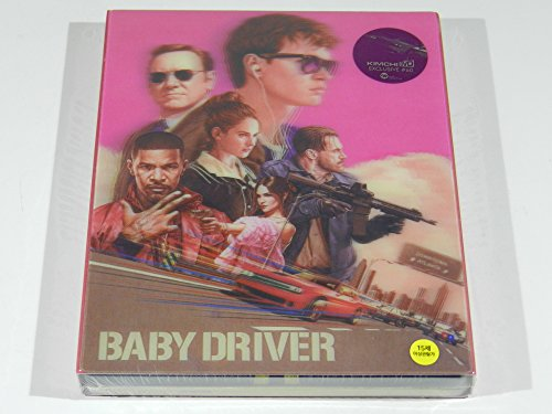Baby Driver Blu Ray Steelbook Kimchidvd Exclusive Lenticular Edition Import Region Free