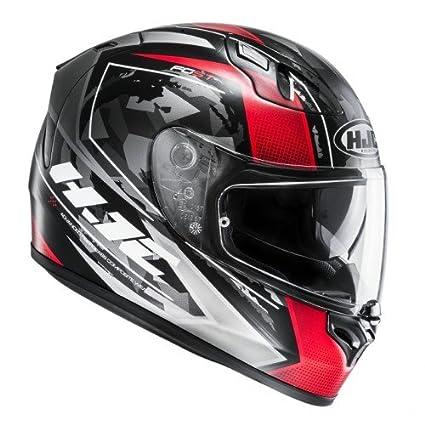 Casco fg-st Kume cascos de motocicleta, color negro/rojo, talla XS