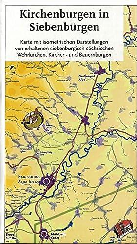 Kirchenburgen In Siebenburgen Karte 1 275 000 Amazon De