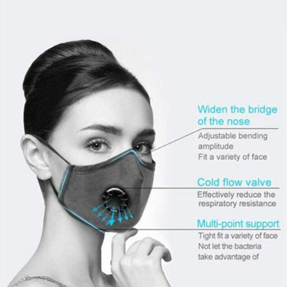 achievr Cubierta de Cara Protecci/ón de Cubierta Boca contra el Polvo Anti-contaminaci/ón Anti-Smog Lavable Reutilizable Cubiertas de Cara para Montar