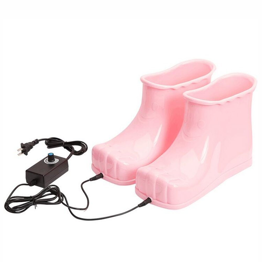 FJY Foot Bath Spa heating Boots Shoes Care Basin Soothe and Relax Tired Feet, pink