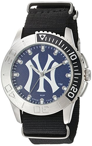 Game Time Men's 'Starter'  Metal and Nylon Quartz Analog  Watch, Color:Black (Model: MLB-STA-NY3)