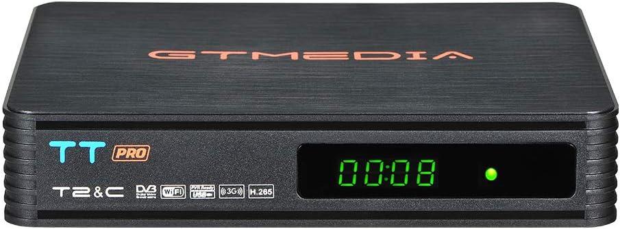 GT MEDIA TT Pro Decodificador TDT HD DVB-T/T2 Decodificador de TV por Terrestre Receptor de TV por Cable con Antena WiFi USB MPEG-2/4 H.265 HEVC 1080P Full HD PVR: Amazon.es: Electrónica