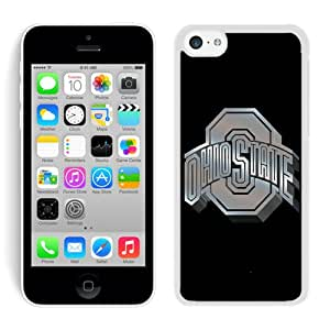Popular And Unique Custom Designed Case For iPhone 5C With Ncaa Big Ten Conference Football Ohio State Buckeyes 13 White Phone Case