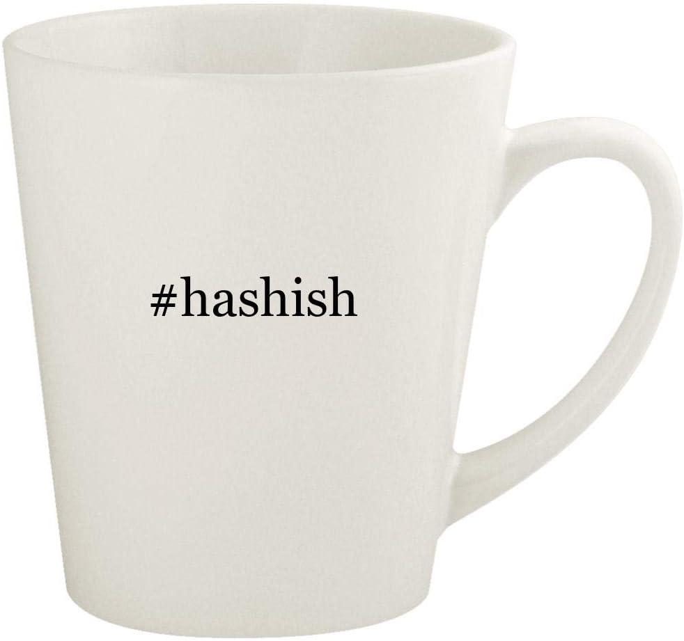 #hashish - 12oz Hashtag Ceramic Latte Coffee Mug Cup, White