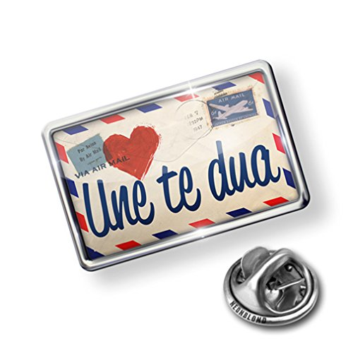 Pin I Love You Albanian Love Letter from Albania - Lapel Badge - NEONBLOND supplies