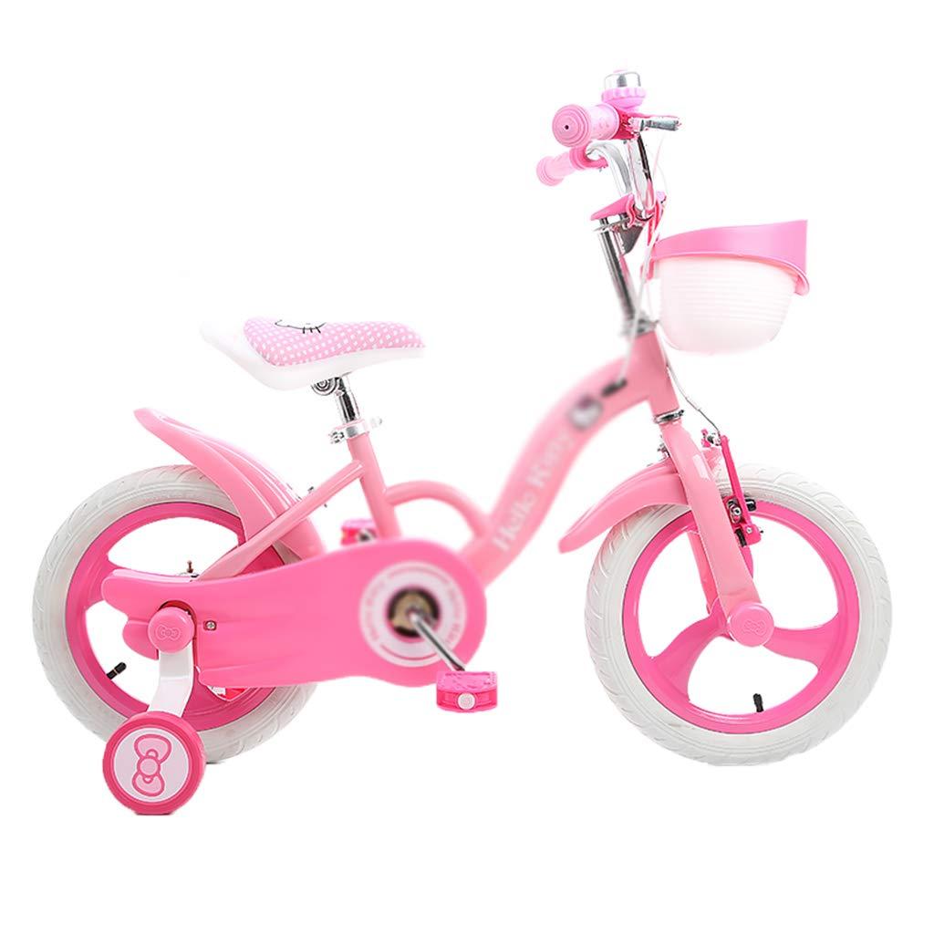 キッズ ロードバイク キッズ バイク 学生 レーシング ユース マウンテンバイク 自転車 女の子 カートゥーン キュート 12/14/16インチ ギフトに最適 14inch(100cm*35cm*60cm) 14inch(100cm*35cm*60cm) Pink-c B07LFV9L5H