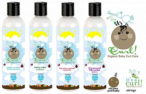 Curls It's a Curl Organic Baby Curl Care Set 4pcs- Tearless Shampoo +Conditioner+Moisturizer+Leave In by Curls