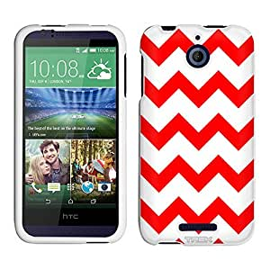 HTC Desire 510 Case, Snap On Cover by Trek Chevron Red White Case