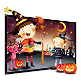 120-Inch Projector Screen, Thustar Outdoor Portable Projector Screen PVC Fabric 16:9 Suitable for HDTV, Sports, Movies and Presentations