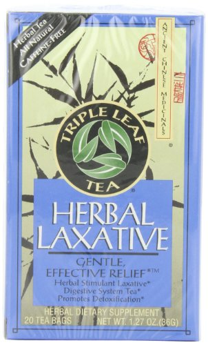 Triple Leaf Tea, Herbal Laxative, 20 Tea Bags (Pack of 6)