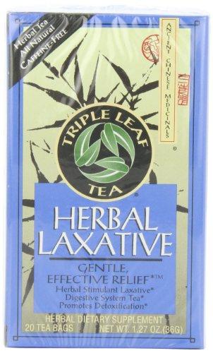 Triple Leaf Tea, Herbal Laxative, 20 Tea Bags (Pack of - Leaf Herbal Tea