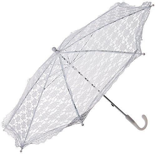 Darice 35058-1 Lace Embroidered Parasol, 32-Inch, -