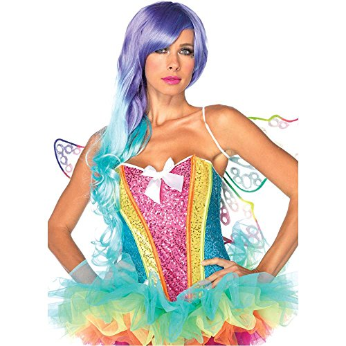 Rainbow Sequin Corset Costume - Small - Dress Size 4-6