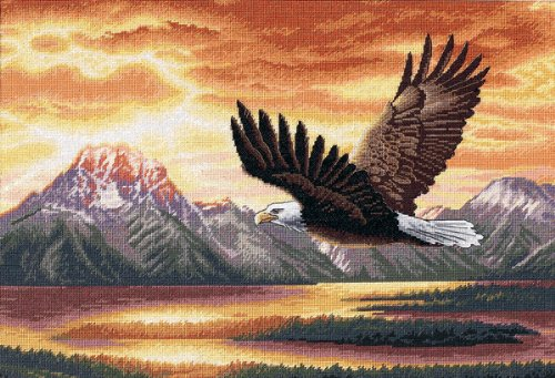 Dimensions Gold Collection Silent Flight Cntd X-Stitch (Eagle Cross Stitch)