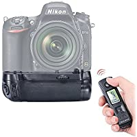 Neewer Multi-Power Battery Grip Replacement for MB-D16 Works with EN-EL15 Battery + 2.4GHz Wireless LCD Display Remote Control for Nikon D750