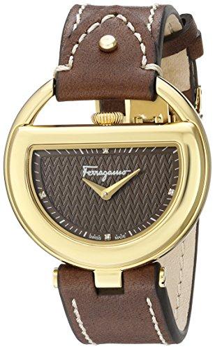 Salvatore Ferragamo Women's FG5060014 Gold Ion-Plated Stainless Steel Watch with Diamond - Salvatore Box Ferragamo Gift