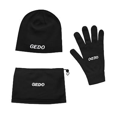 Gedo Winter Pack de Gorros, Guantes y Braga, Hombre, Negro ...