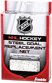 Franklin Sports NHL Steel Goal Replacement Net, 72x 48x 30, White