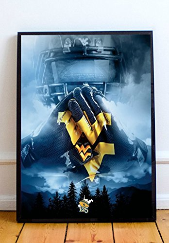 - WVU Football Limited Poster Artwork - Professional Wall Art Merchandise (More (8x10)