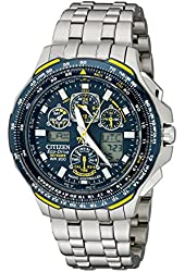 Citizen Men's JY0050-55L Blue Angels Skyhawk A-T Titanium Eco-Drive Watch