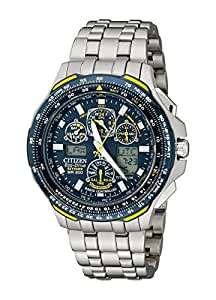 Titanium Skyhawk AT Blue Angels Multi-Band Atomic Eco-Drive Flight Chronograph