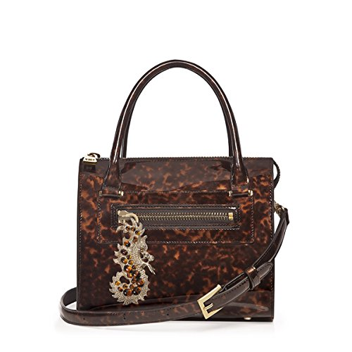 Tortoise Bag - Eric Javits Luxury Fashion Designer Women's Handbag - Dragon Lady - Tortoise