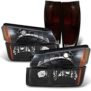 2002 2003 2004 2005 2006 chevy avalanche black headlights bumper lights dark red. Black Bedroom Furniture Sets. Home Design Ideas