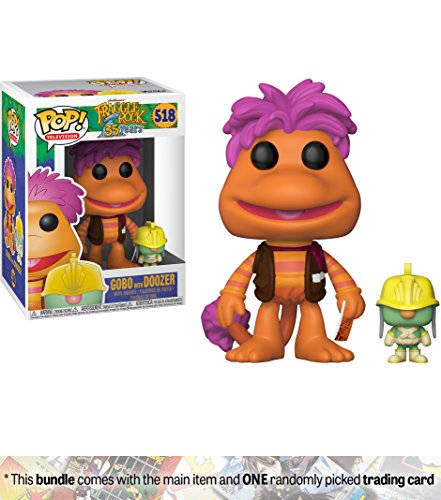 Fraggle Rock Puppets (Gobo w/ Doozer: Funko POP! TV x Fraggle Rock Vinyl Figure + 1 American Cartoon Themed Trading Card Bundle [#518])