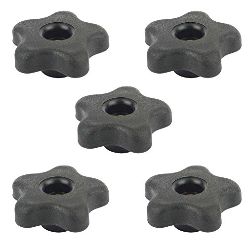 Big Horn 19709B-5PK 5 Star Thru Knob 3/8 x 16 (5/PK) by Big Horn