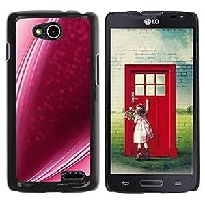 PC/Aluminum Funda Carcasa protectora para LG OPTIMUS L90 / D415 purple pink candy lines strawberry love / JUSTGO PHONE PROTECTOR