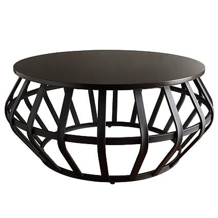 Wrought Iron Round Table.Amazon Com Yike Coffee Table Creative Black Wrought Iron Round