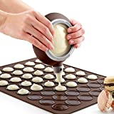 Silicone Macaron Kit Baking Mold Set of Pastry Baking Mat and Decorating Piping Pot with 4pcs Nozzles-Crystallove