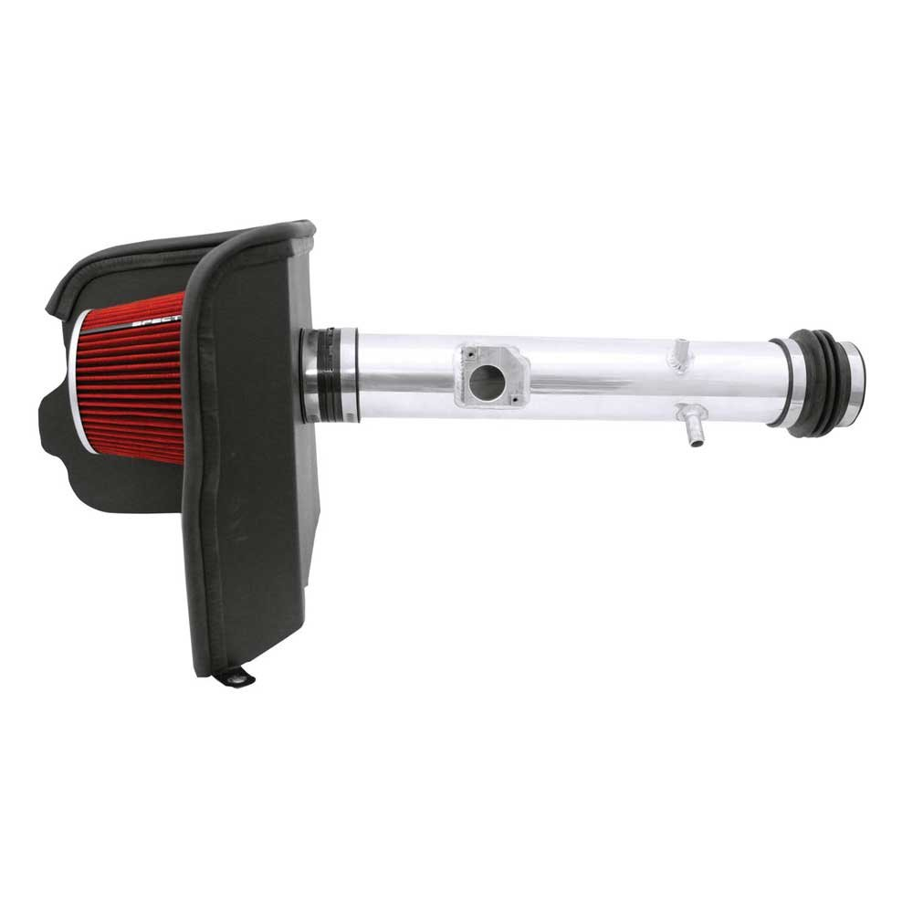 Spectre Performance Air Intake Kit with Washable Air Filter: 2005-2011 Toyota Tacoma, 4.0L V6,  Red Oiled Filter with Polished Aluminum Tube, SPE-9962 by Spectre Performance