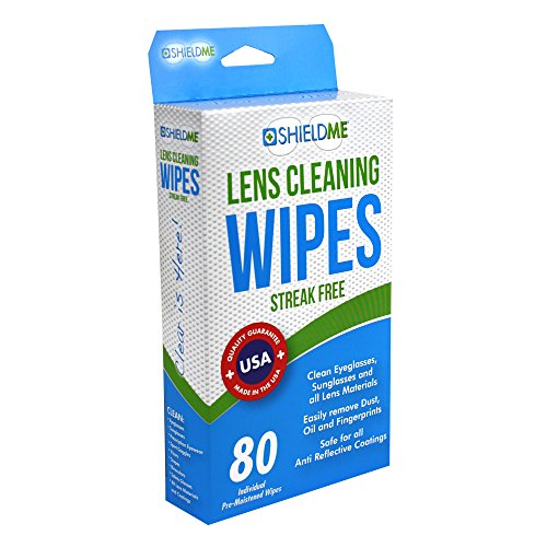 SHIELDME Lens Cleaning Wipes, 80 Ct, Black (6080)